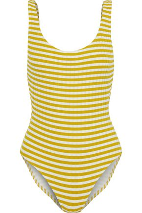 SOLID & STRIPED The Anne Marie striped ribbed swimsuit