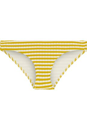 SOLID & STRIPED The Elle striped ribbed low-rise bikini briefs