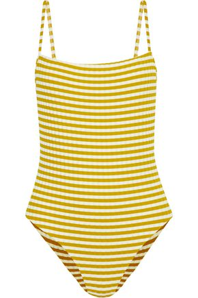 SOLID & STRIPED The Chelsea striped ribbed swimsuit