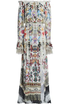 CAMILLA Raise Your Glass wrap-effect printed silk-chiffon maxi dress
