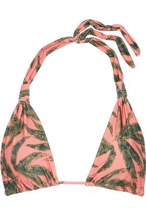 VIX PAULA HERMANNY Knotted printed triangle bikini top