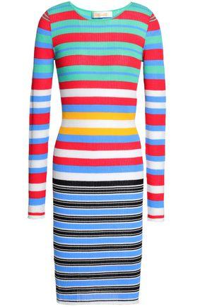 DIANE VON FURSTENBERG Striped cotton-blend jersey dress