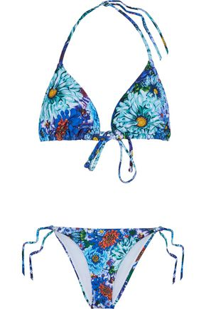 MARY KATRANTZOU Floral-print swimsuit