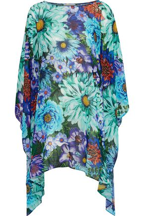 MARY KATRANTZOU Paint By Numbers printed crepe de chine coverup