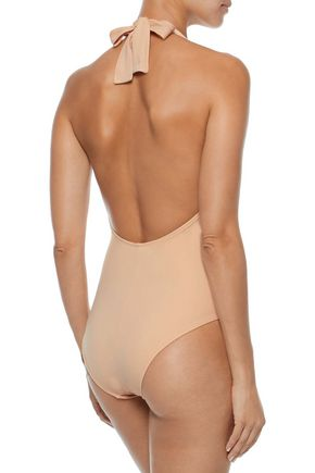 SOLID & STRIPED The Willow halterneck swimsuit