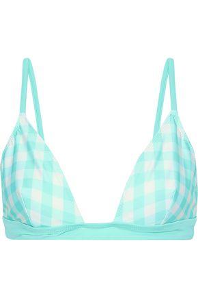 SOLID & STRIPED The Morgan gingham triangle bikini top