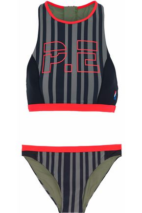P.E NATION The Black Paddle printed bikini