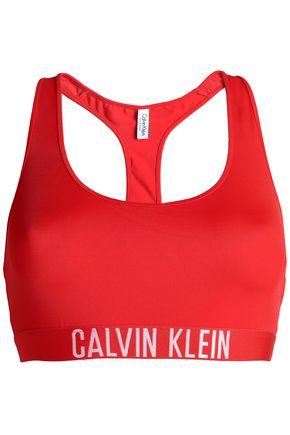CALVIN KLEIN Jacquard-trimmed bikini top