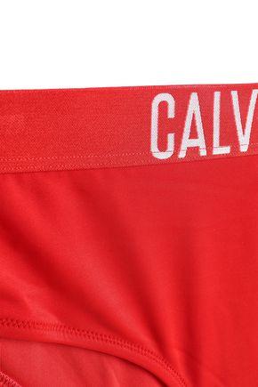 CALVIN KLEIN Printed high-rise bikini briefs