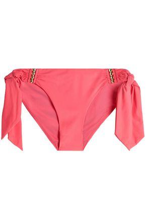 CALVIN KLEIN Embellished mid-rise bikini briefs