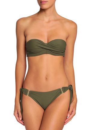 cef13d7e11bde Twist-front bandeau bikini top | CALVIN KLEIN | Sale up to 70% off ...
