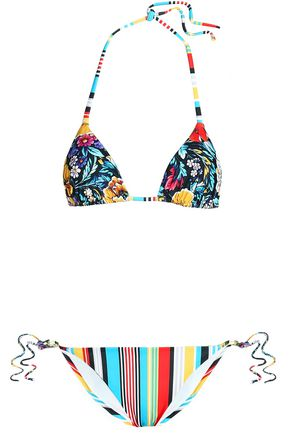 MARY KATRANTZOU Printed triangle bikini top