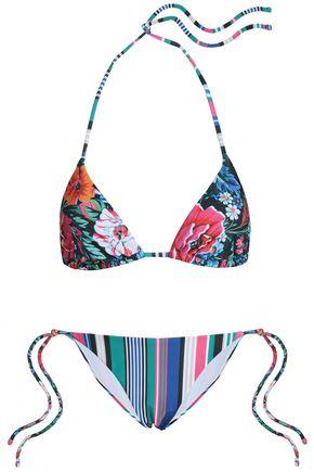 MARY KATRANTZOU Printed triangle bikini