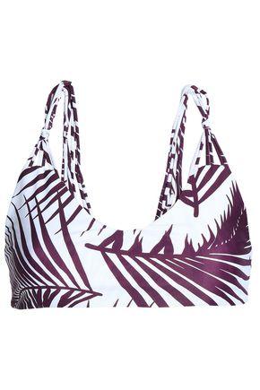 MIKOH Printed bandeau bikini top