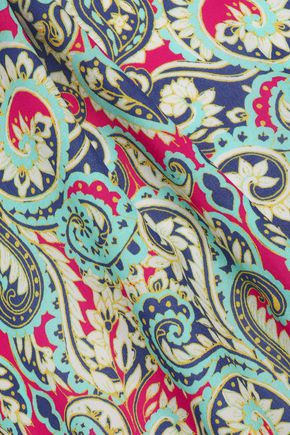 TART COLLECTIONS_FAKE BRAND Printed crepe midi dress