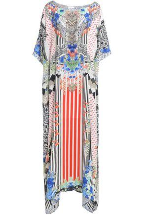 CAMILLA Spell Bound crystal-embellished printed silk maxi dress