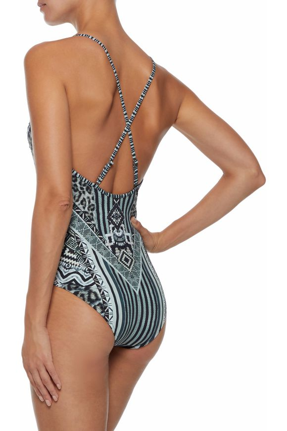 0201adf150 Tribal Theory crystal-embellished printed swimsuit | CAMILLA | Sale ...
