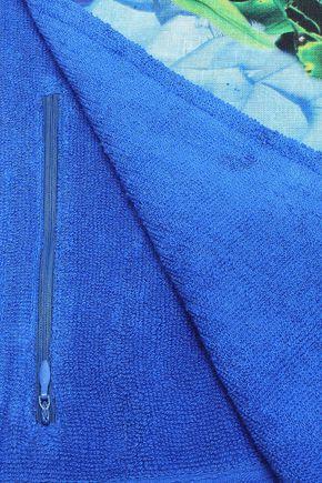 CAMILLA Printed cotton-terry beach towel