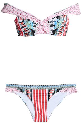 CAMILLA Off-the-shoulder printed bikini