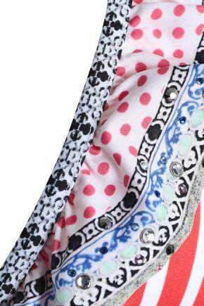 CAMILLA Ruffled printed triangle bikini