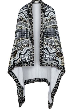 CAMILLA Tribal Theory printed cotton-terry cape