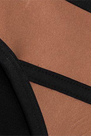 DUSKII Ochre metallic neoprene mid-rise bikini briefs