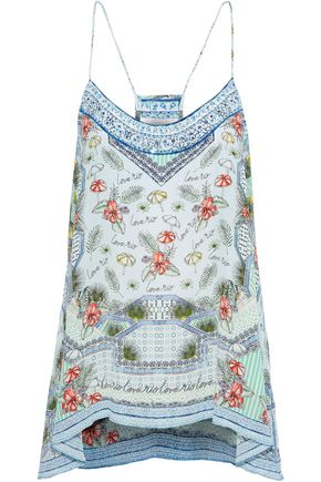 CAMILLA Shades Of Rio crystal-embellished printed silk crepe de chine camisole