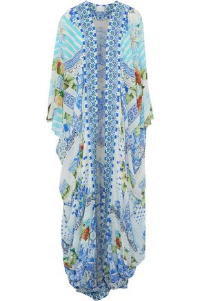 CAMILLA A Night To Remember crystal-embellished printed silk crepe de chine kimono