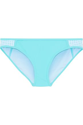 DUSKII Haleakala paneled perforated low-rise bikini briefs