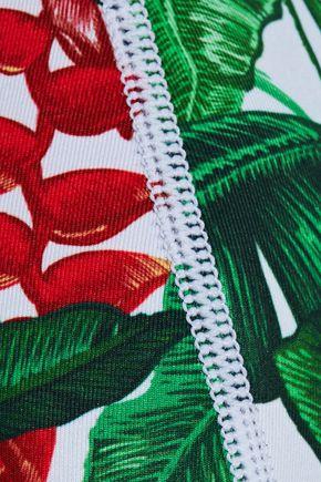 DUSKII Printed neoprene triangle bikini top