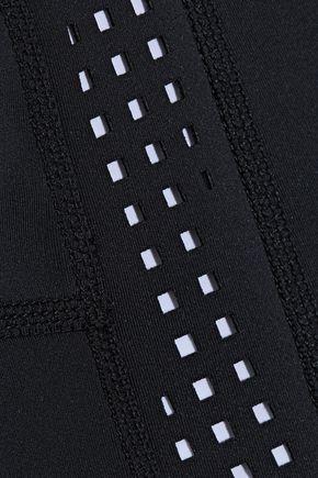 DUSKII Perforated neoprene high-rise bikini briefs