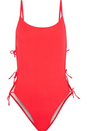 SOLID & STRIPED The Lily lace-up swimsuit