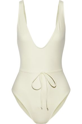 SOLID & STRIPED The Michelle tie-front swimsuit