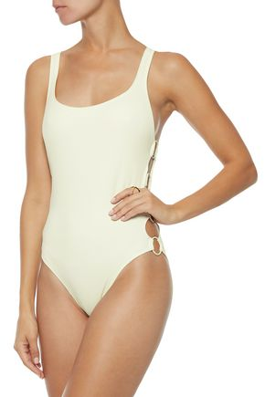 SOLID & STRIPED The Jennifer ring-embellished swimsuit