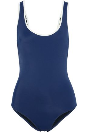SOLID & STRIPED The Harlow button-embellished swimsuit