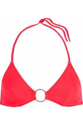 SOLID & STRIPED The Tania ring-embellished triangle bikini top