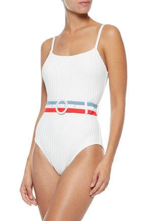 SOLID & STRIPED The Lipstick striped swimsuit