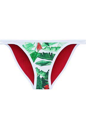 DUSKII Oasis printed neoprene low-rise bikini briefs