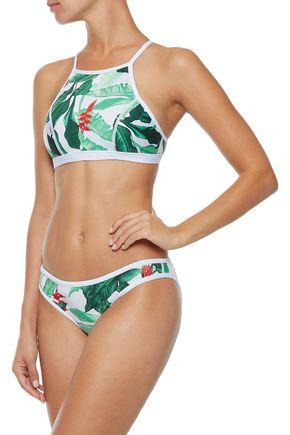 DUSKII Oasis printed neoprene bikini top