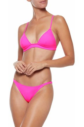 SOLID & STRIPED The Morgan neon triangle bikini top