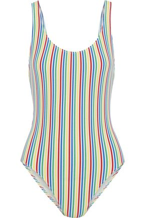 SOLID & STRIPED The Anne Marie striped seersucker swimsuit