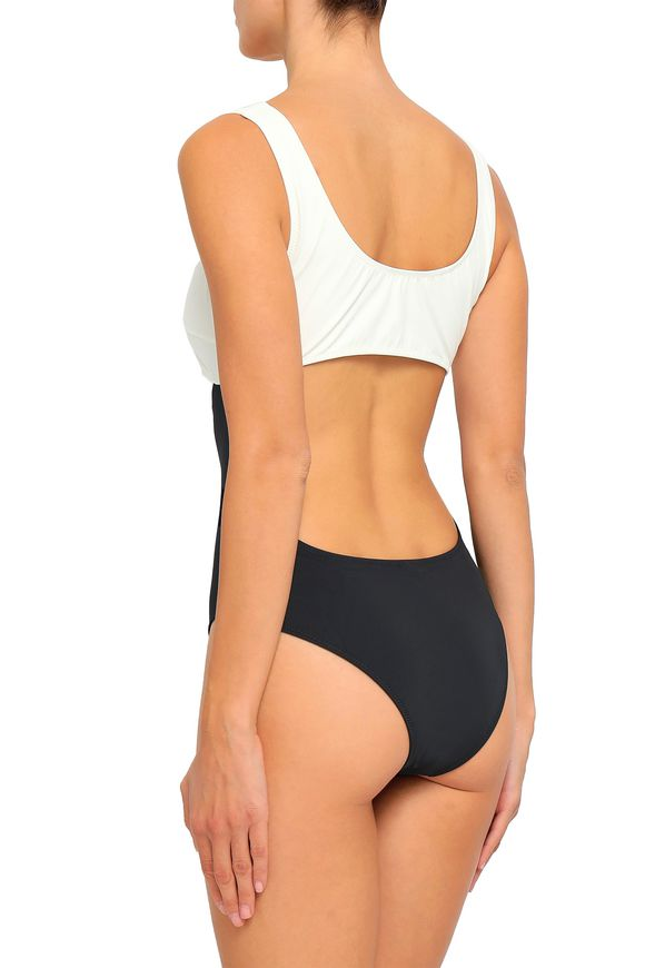 450cbac8f3 The Natasha cutout two-tone swimsuit | SOLID & STRIPED | Sale up to ...