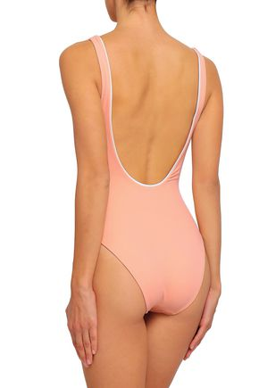 SOLID & STRIPED The Juliette button-embellished swimsuit