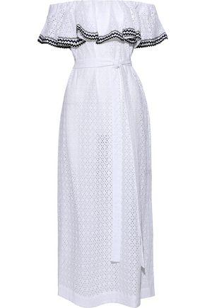 8cc8a0953a6 LISA MARIE FERNANDEZ Off-the-shoulder broderie anglaise cotton maxi dress
