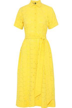 LISA MARIE FERNANDEZ Belted broderie anglaise cotton midi shirt dress