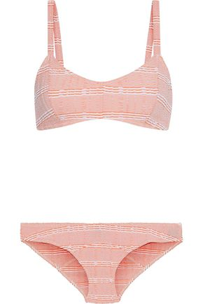 LISA MARIE FERNANDEZ Genevieve striped seersucker bikini