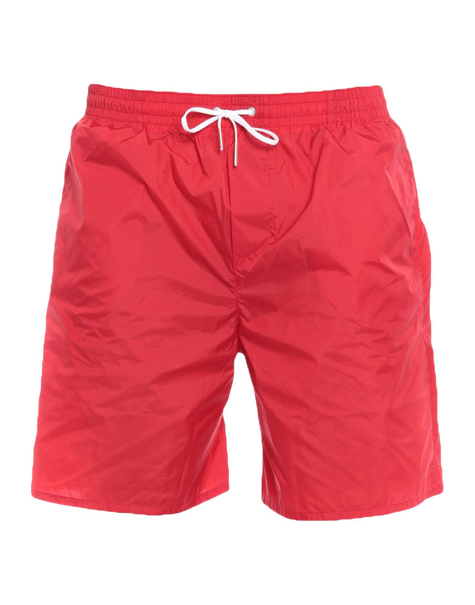 《セール開催中》DSQUARED2 メンズ 水着(パンツ) レッド 48 ナイロン 100%