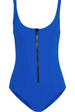 LISA MARIE FERNANDEZ Jasmine zip-detailed bonded swimsuit
