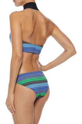 LISA MARIE FERNANDEZ Striped stretch-cotton halterneck bikini