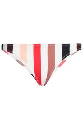 SOLID & STRIPED The Rachel striped low-rise bikini briefs